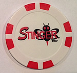 Poker Chip Ball Marker (Red)